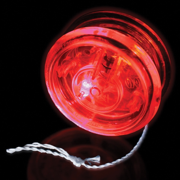 "Clear & Clear 2 3/8"" Light Up Glow LED Red LED Yo-Yo"