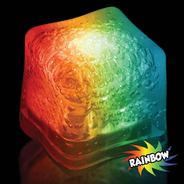 Rainbow Light Up Premium LitedIce Brand Ice Cube