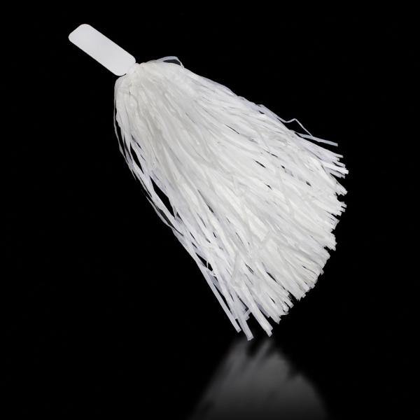 "White 16"" Plastic Pom Pom"