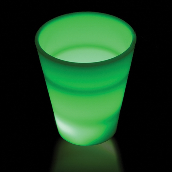 LED Neon Light Up Glow Look 2 oz Shot Glass
