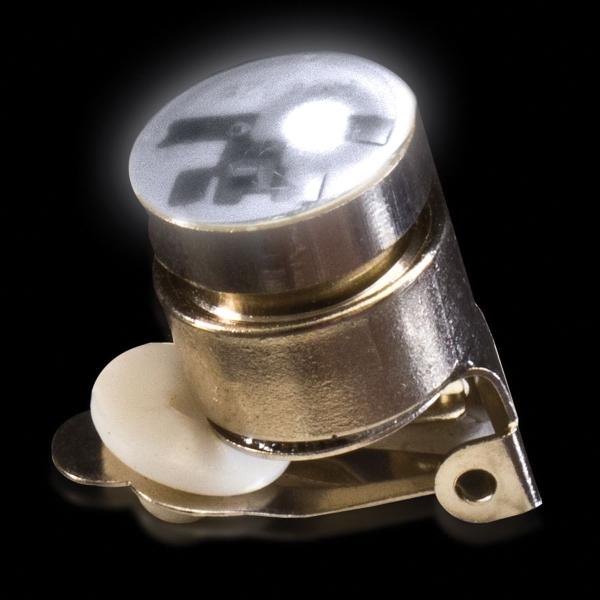 White Stock Flashing Light Up LED Glow Button
