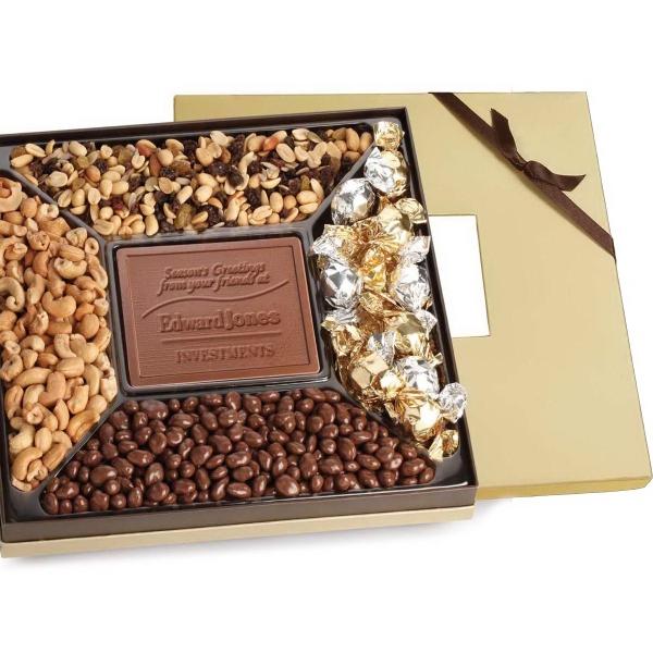 Window Box with Custom Chocolate, Nuts & Dried Fruit