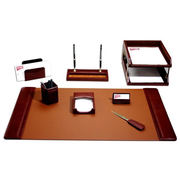 10-Piece Classic Leather Desk Set