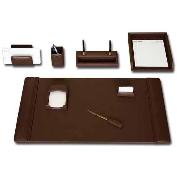 8-Piece Classic Leather Desk Set