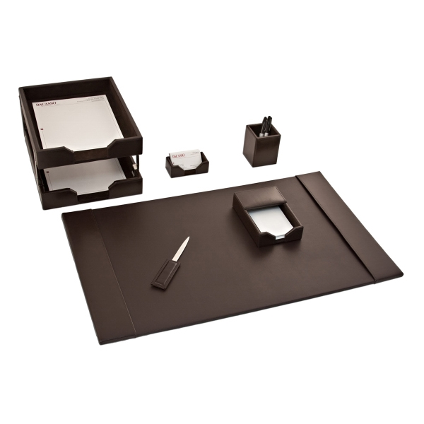 8 Piece Econo-Line Leather Desk Set