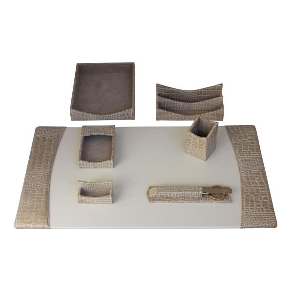 bonded leather desk set 6 piece pink. 7-Piece Protacini(R) Leather Desk Set Bonded 6 Piece Pink