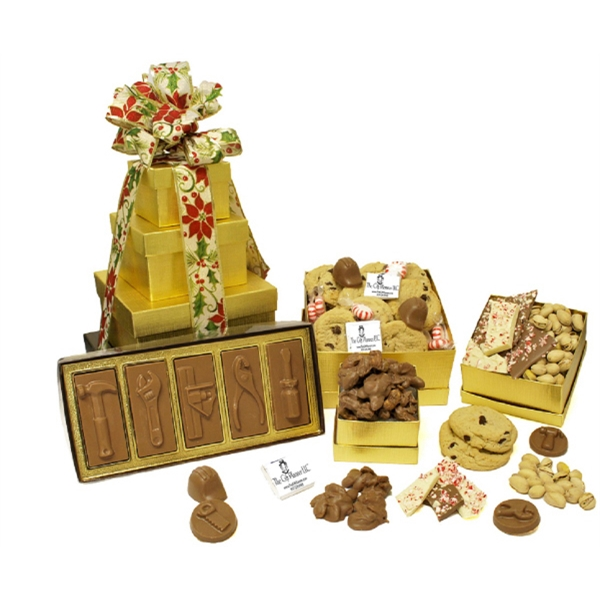 Go For The Gold Gourmet Gift Tower