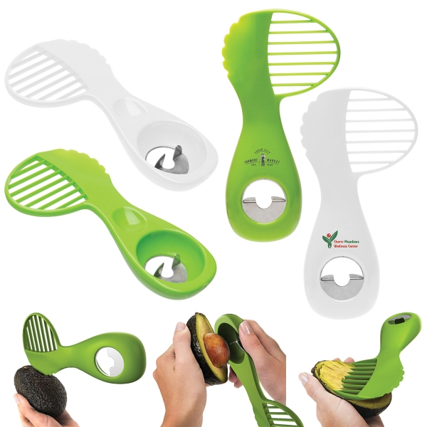 "3-in-1 Avocado Tool - 6 1/2"" avocado tool, with 3-in-1 functionality and custom imprinting available"