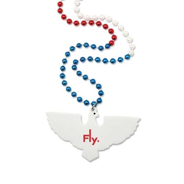 Patriotic Eagle Medallion Beads