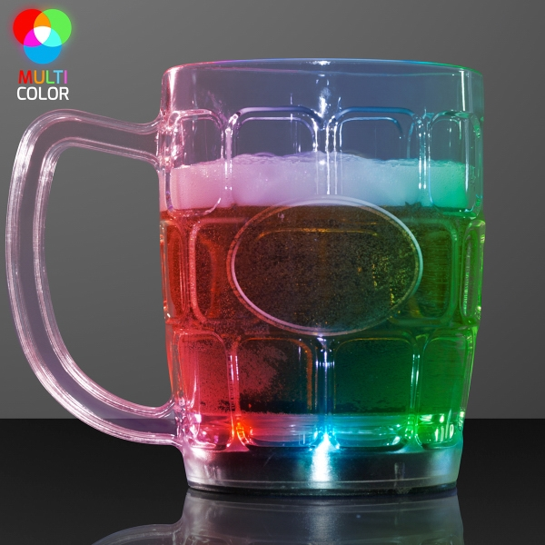 Light up flashing beer mug