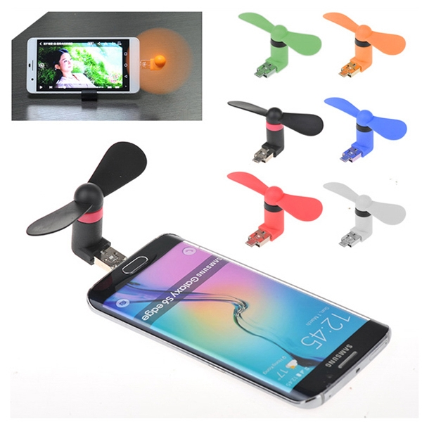 Mini USB fan for cell phone, computer, power bank, tablet