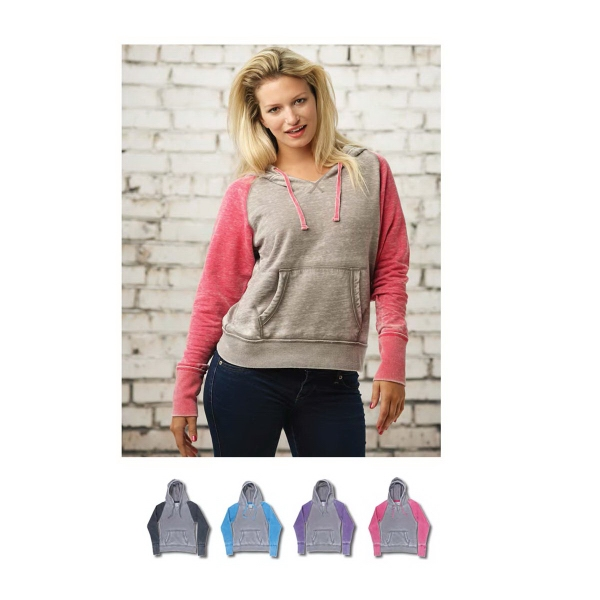 Ladies Zen Contrast Pullover Hood