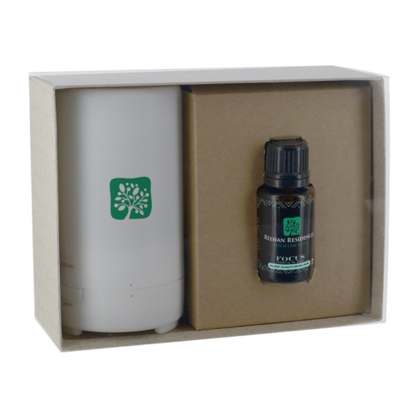 Electronic Diffuser + 15ml Bottle Essential Oil w/ Gift Box