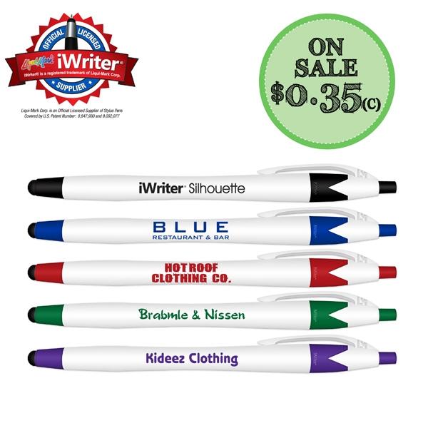 iWriter Silhouette Stylus & Ballpoint Pen Combo Black Ink