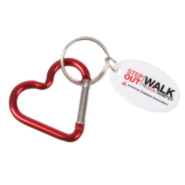 Heart Carabiner Keychain