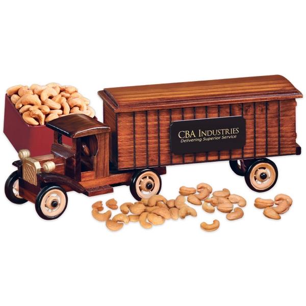 1930-Era Tractor-Trailer Truck with Jumbo Cashews