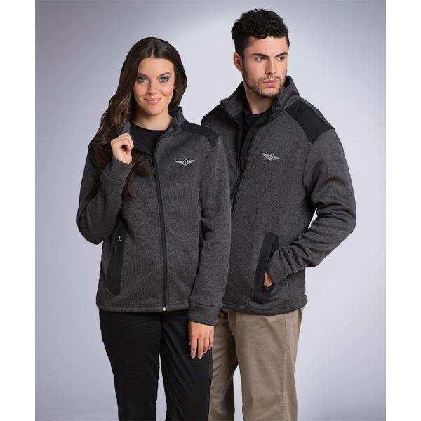 Women's Full Zip HK Technical Sweater w/Microfleece Lining
