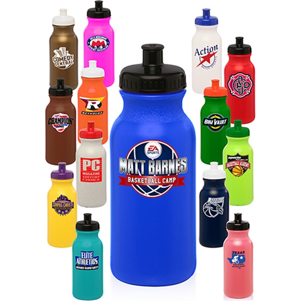 20 oz Custom Plastic Water Bottles