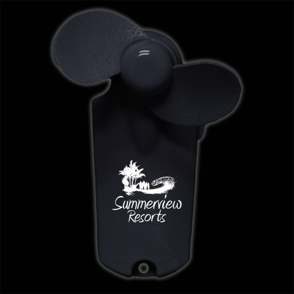 Black Handheld Imprintable Fans