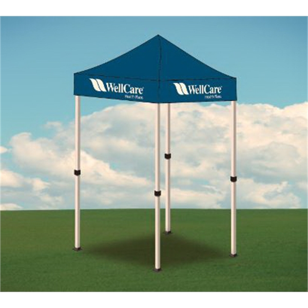 5ftx5ft Promotional Tent with Imprinted Logo-1Color - 5ftx5ft Promotional Tent with Imprinted Logo-1Color