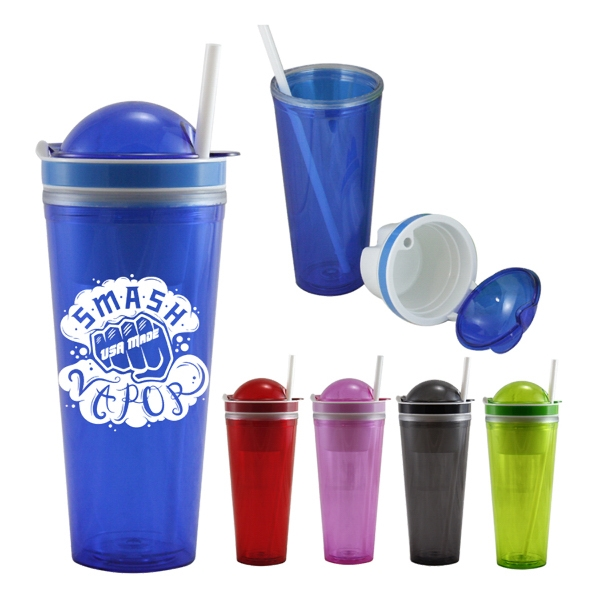 22 Oz. Tumbler W/ Snack Container