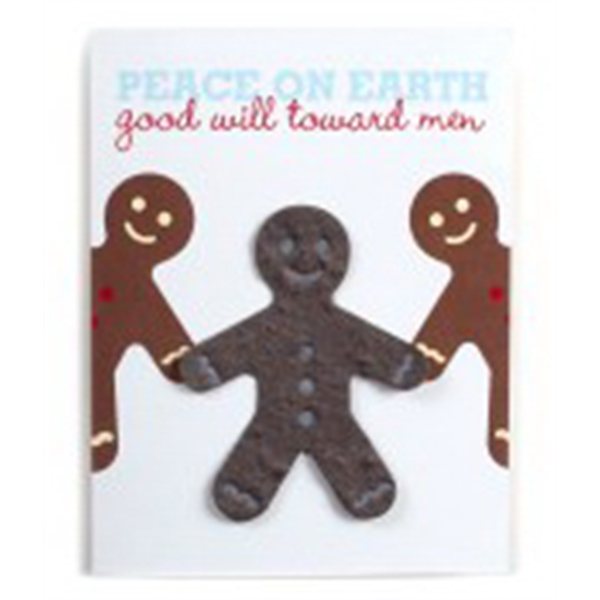 Gingerbread Man Seed paper cards