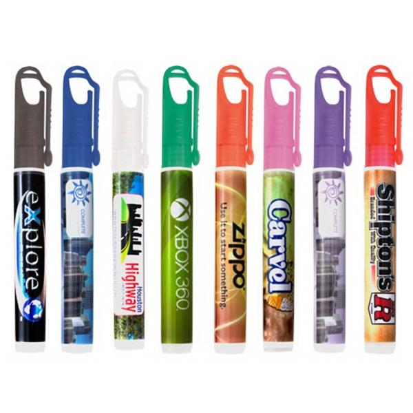 10ml carabiner clip hand sanitizer spray - Orange - 10ml / .33 oz carabiner clip hand sanitizer spray - Orange Cap.