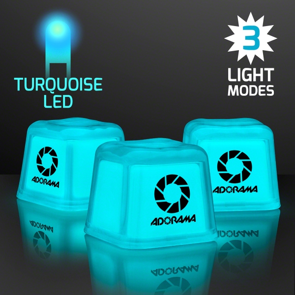 Hollywood Ice Light Up Turquoise Ice Cubes