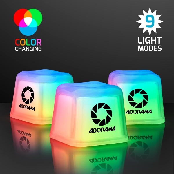 Hollywood Ice Multicolor LED Glow Cubes