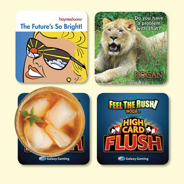 "Origin'L Fabric®4""x4""x1/8"" Antimicrobial Fabric Coaster"