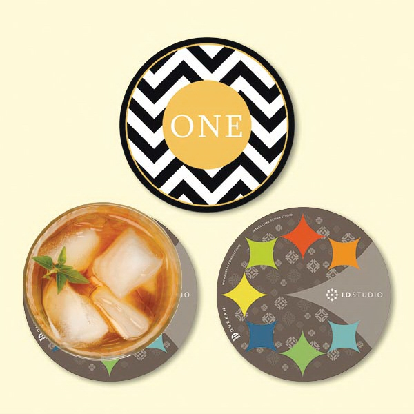 "Origin'L Fabric®4""Round x1/16"" Antimicrobial Coaster"