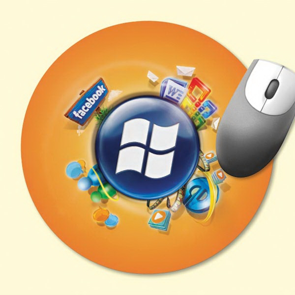 """Origin'L Fabric®8""""Roundx1/16"""" Antimicrobial Mouse Pad"""