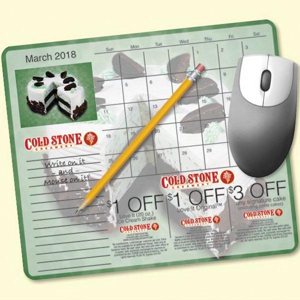 MousePaper®Calendar 18 Month (Landscape) Mouse Pad