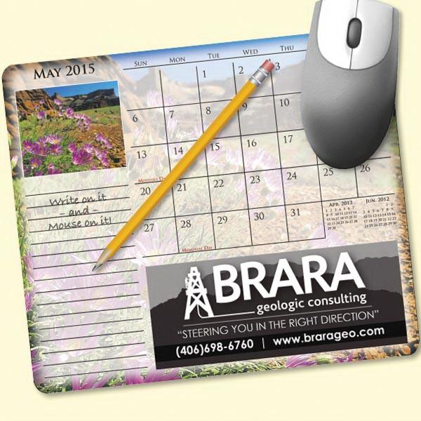 MousePaper(R) Calendar 24 Month (Landscape) Mouse Pad