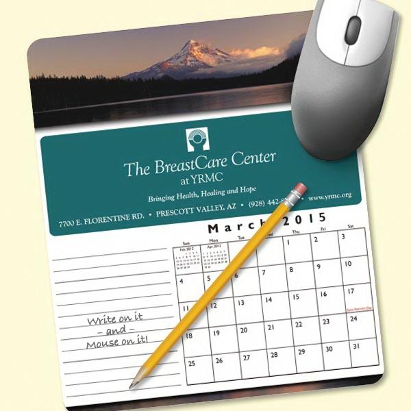 MousePaper®Calendar 12 Month (Portrait) Mouse Pad