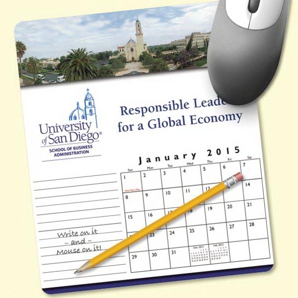 MousePaper(R) Calendar 18 Month (Portrait) Mouse Pad