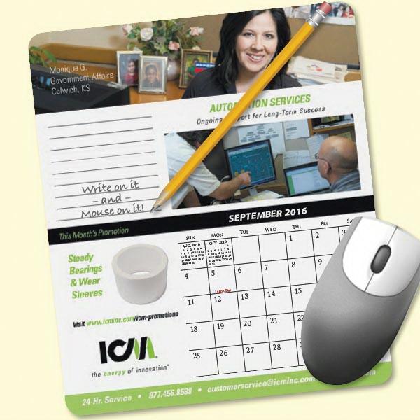 MousePaper®Calendar 24 Month (Portrait) Mouse Pad