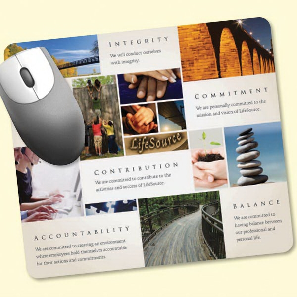 "Peel&Place(R) 7.5""x8.5""x.015"" Ultra Thin Mouse Pad"