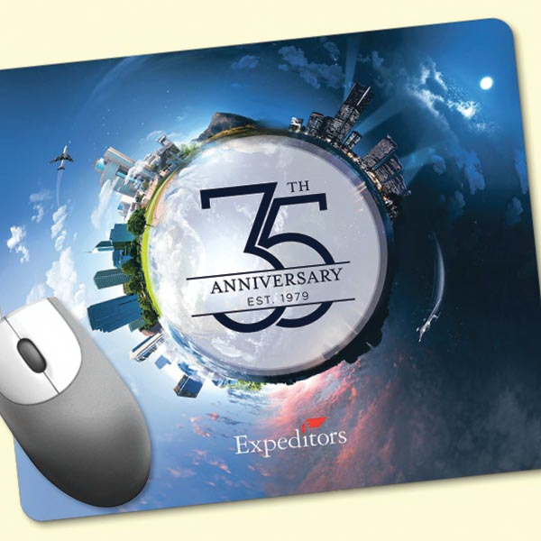 """ReTreads®8""""x9.5""""x3/32"""" Recycled Hard Surface Mouse Pad"""