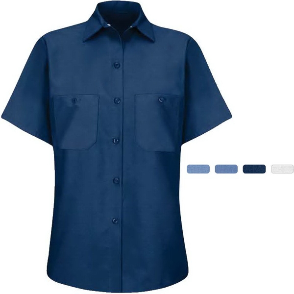 Women's Short Sleeve Industrial Work Shirt