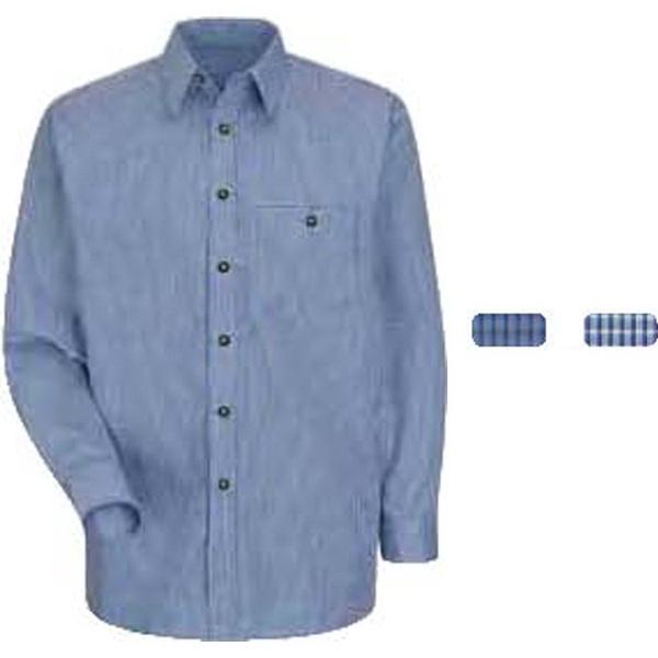 Long Sleeve Mini-Plaid Uniform Shirt