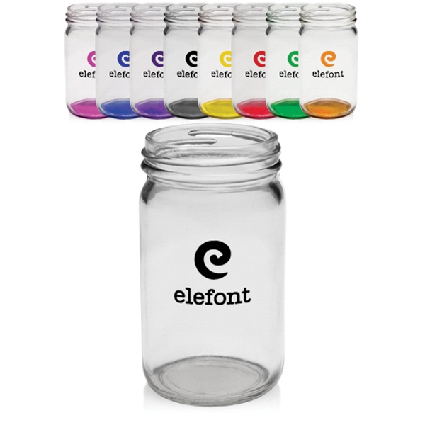 8 oz. Colored Mini Mason Jars