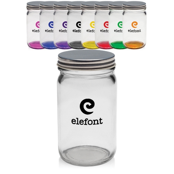 8 oz. Colored Mini Mason Jars w/ Lids