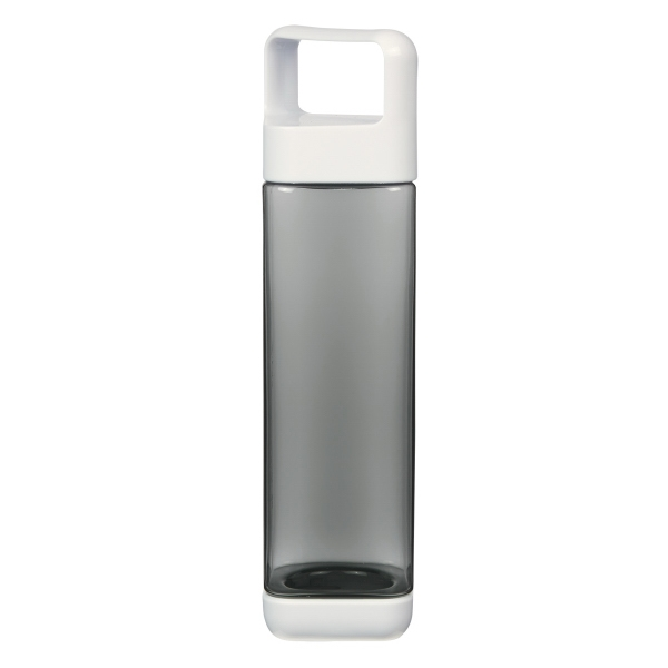 25 Oz. Square Bottle with Removable Top and Bottom