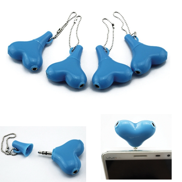 Heart Shape Earbud Splitter