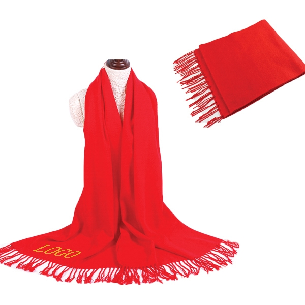 Unisex Scarf With Tassels