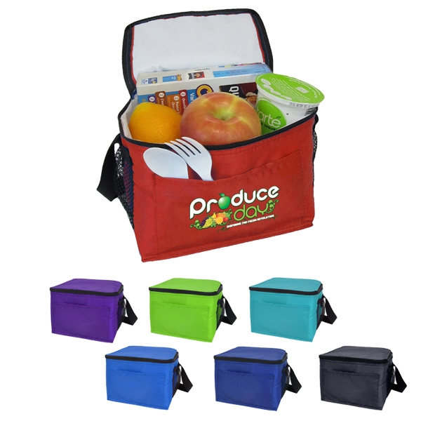6-Can Cooler with both side mesh pockets