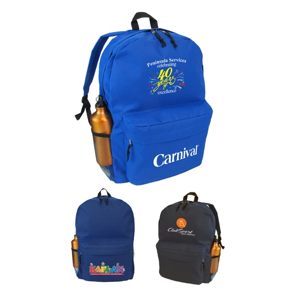 Backpack with padded back panel