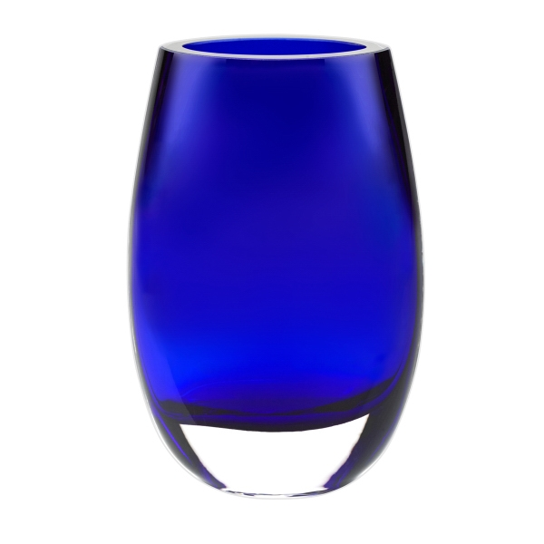 Crescendo Cobalt Blue European Mouth Blown Crystal 7.5