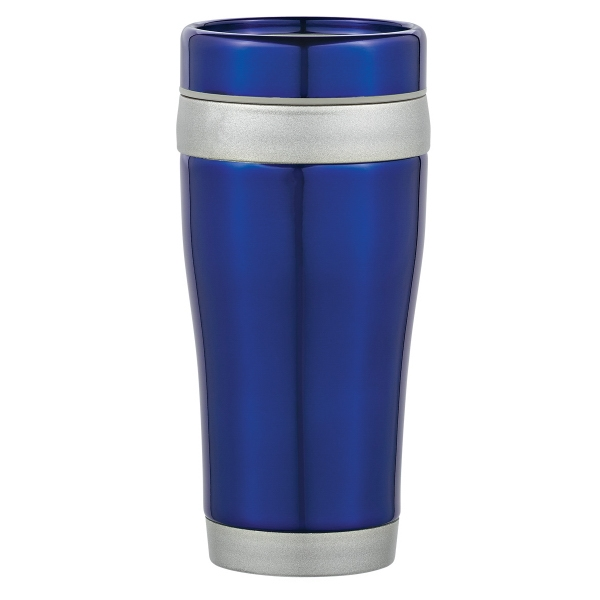 15 oz. Stainless Steel Banded Tumbler